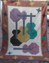 7 Rockin' Quilts for Music Lovers & Guitars Quilt: Pattern on Craftsy Adamdwight.com