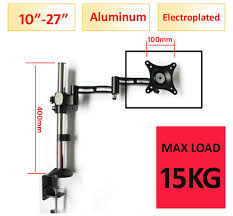 d mount 10 27 height adjule aluminum 360 rotate lcd tv table mount