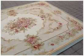 aubusson rug 8x10 blue cream pink