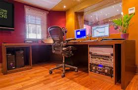 bespoke custom made studio furniture mixing desk and racks wenge