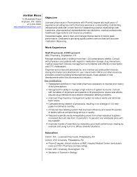 Retail Pharmacist Resume Sample Cover Letter Samples Cover
