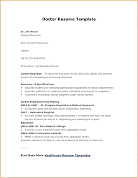 Doctor Resume Template Format Cv Sample India Mmventures Co