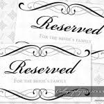 Reserved Signs Templates Table Reserved Sign Template Free Trisamoorddinerco Free Reserved