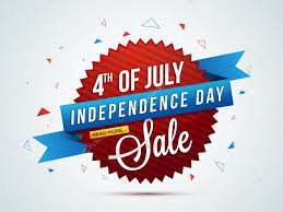 4th Of July Sale Tag Banner Poster Or Flyer Stock Vector