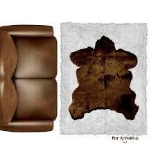 sierra bear skin rug area rug wall
