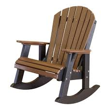 polywood adirondack rocking chairs. Unique Polywood Amish Polywood Adirondack Rocker  Tudor Brown On Black Front View Throughout Rocking Chairs W