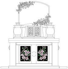 お墓彫刻デザイン お花人気ランキング 博多霊苑 福岡県粕屋郡の霊園