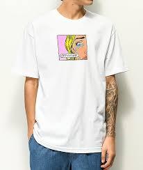 Odd Future Clothing Size Chart Odd Future Pop Art Tears White T Shirt