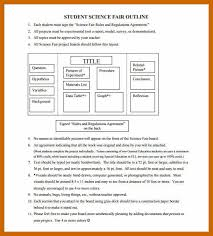 Template For Science Fair Project 7 8 Project Outline Example Resumetablet