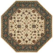 promising octagon area rugs firouz ivory 7 ft 9 in rug