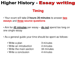 higher history essay general info