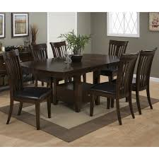 slat back chairs. Mirandela Birch Counter Height 7 Piece Dining Set With Contoured Slat Back Chairs - [836-78B+836-78T+6x836-947KD]