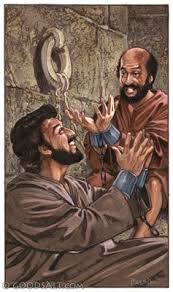 Image result for the apostle paul in prison rejoicing in the Lord