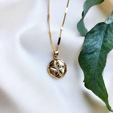 signet necklace sand dollar coin