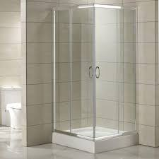 ... Shower Enclosure, which easily fits into the corner of a room and  features versatile double sliding doors. Transparent tempered glass walls,  ...