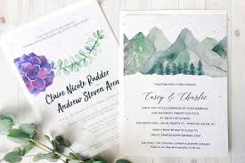 eco friendly plantable custom printed seed paper wedding invitations
