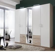 fresh wardrobe 4 doors 1 mirror door 4 drawers 25546 4 Door Wardrobe With  Mirror