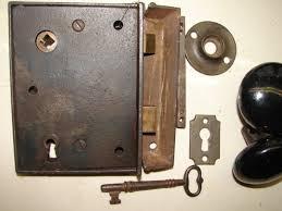 antique restoration hardware early rim lock 26a