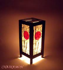 Sunset Suns Oriental Light Bedroom Art Asian Table Lamp Shades Lighting  Pinterest