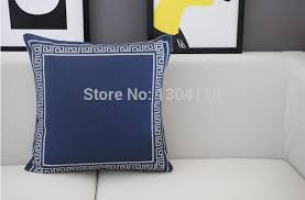 Small Picture australia navy blue wave pattern cushion cover blue cotton pillow
