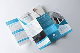 Company Brochure Example Business Trifold Brochure