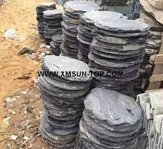 black slate stepping stone round slate