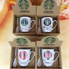 office cups. Starbucks Coffee Cup Set CupCoffee Mug Water BottleCuteCouple Office Ceramics CupWith Spoon Big Cups Mugs From C