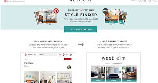 West elm style furniture Wood West Elm Launches Pinterest Style Finder Barker amp Stonehouse Design West Elm Launches New Ai Tools To Scan Pinterest Boards