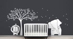 baby lion elephant and tree wall sticker mural modern baby zoo wall decal kids nursery playroom wall art poster vinyl decor full wall decals full wall mural