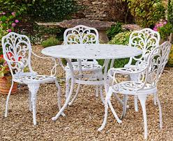 white garden furniture. Plain Furniture Canterbury Cast Aluminium Garden Table U0026 4 Chairs With White Furniture S