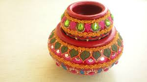 Pot Decoration Designs 100Decorated Earthen pot type 100JPG 191000×100 Diwali decor 2