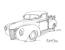 1000x773 old chevy truck coloring pages â