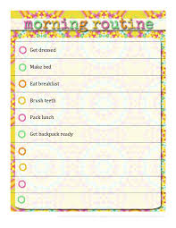 Free Morning Routine Chart Pictures Kids Schedule Template New Morning Routine Chart Free