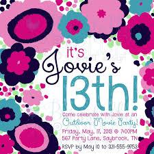 13th birthday party invitations printable birthday invitations