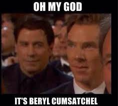 John Travolta and Benedict Cumberbatch Meme From 2015 Oscars ... via Relatably.com