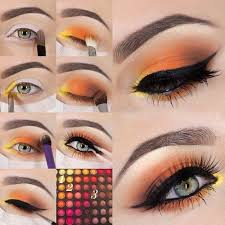 orange eyeshadow colorful eyeshadow tutorials makeup tutorials