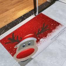 deer pattern indoor outdoor area rug red w16 inch l24 inch