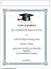 Graduation Party Invite Template Combined With Free Graduation Party