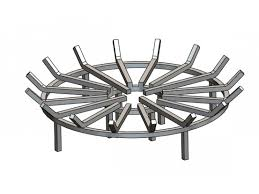 astonishing fire pit grate in stainless steel round