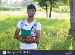Indian collge student outdoor