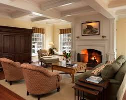 family room furniture layout. elegant dark wood floor family room photo in philadelphia with beige walls and a standard fireplace furniture layout r