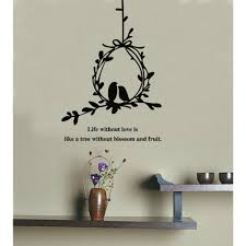 Birds Quotes Olive Branch and Birds with Quotes Wall Decal Wall Art Decals 99