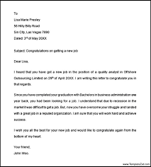Congratulations Letter On New Job 15 Congratulations Letter For Graduation Sample Paystub