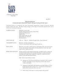 Property Manager Job Description Samples Commercial Real Estate Agent Job Description Templates At
