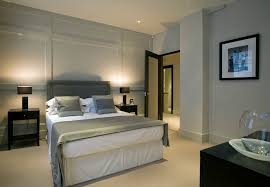 master bedroom feature wall: master bedroom feature wall bedroom contemporary with night stands black painted furniture