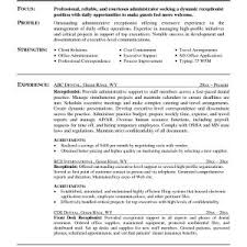 Sample Resume Qualifications For Receptionist Valid Receptionist