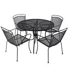 black wrought iron patio furniture. wrought iron patio furniture cushions black r