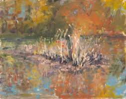 Fall Reeds on the Pond by Roselyn (Rose) Rhodes   Painting, Original  paintings, Prints
