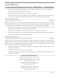 Food Services Resume Examples Resume Professional Writers