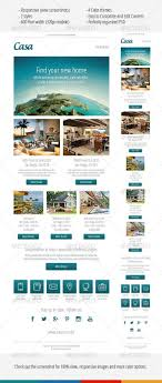 Real Estate Newsletter Template Casa Responsive Email Template Responsive Email Template And 9